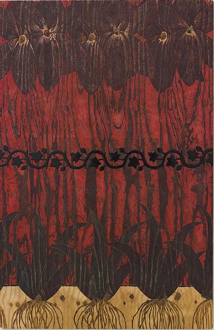 מאשה זוסמן,, ללא כותרת, עט כדורי וצבע תעשייתי על עץ, 110X170, 2013